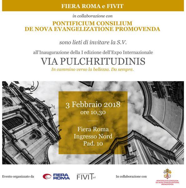 Fiera di Roma, Via Pulchritudinis dal 3 a 6 febbraio